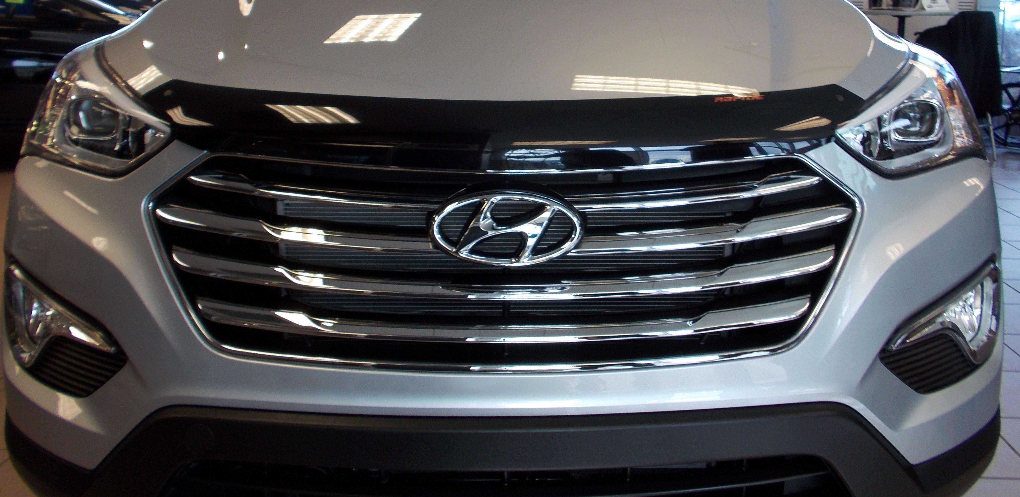 Hyundai Santa Fe 2013 2018 Rapidefit Hood Protector