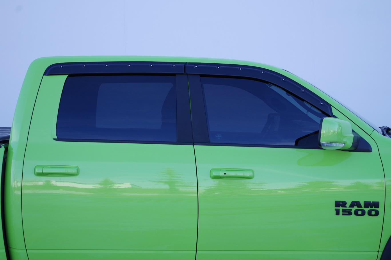 labwork 4pcs Sun//Rain Guard Vent Shade Window Visor Fit for 09-15 Dodge Ram Crew//Mega Cab